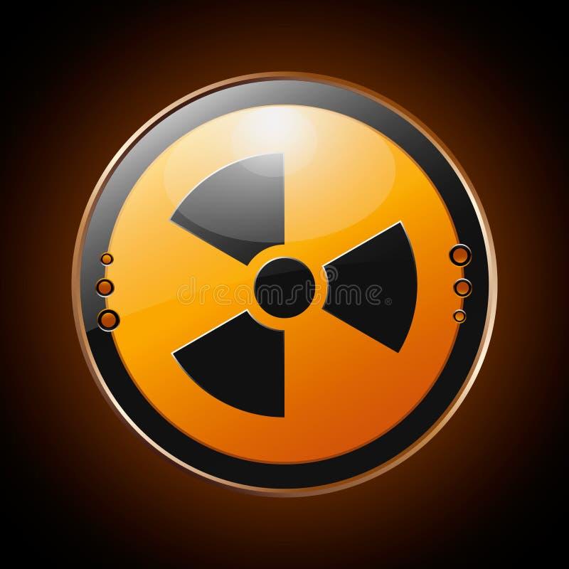 Kern radioactief symbool royalty-vrije illustratie
