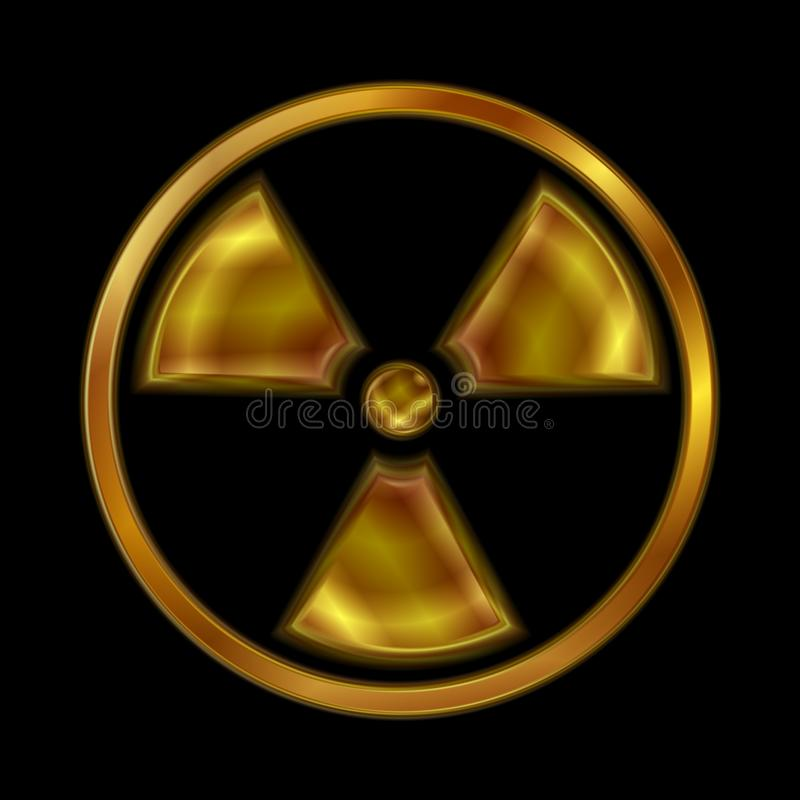 Kern stralings vectorsymbool royalty-vrije illustratie