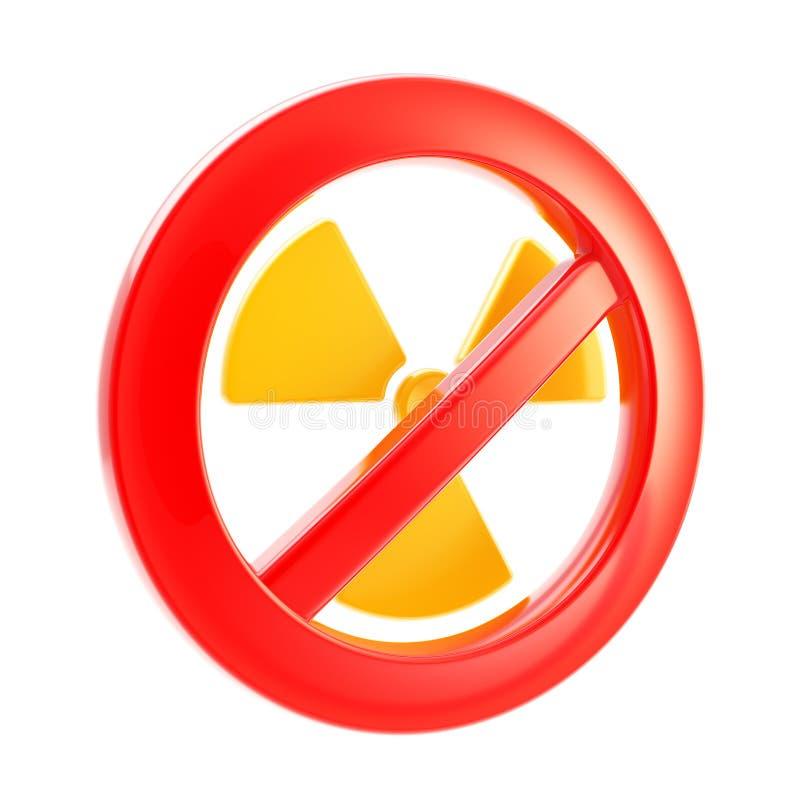 Kern verboden macht en straling vector illustratie