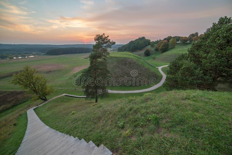 Kernave, capital histórico de Lituânia fotos de stock royalty free