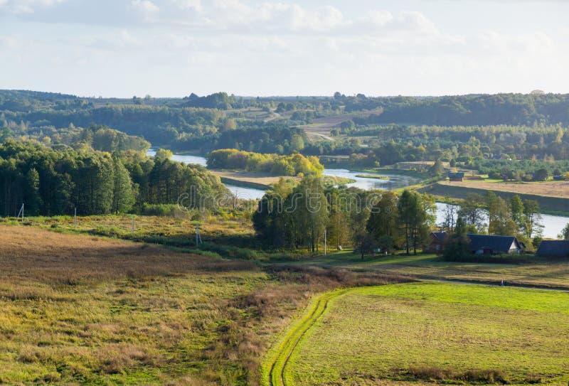 Kernave landskap på sommar royaltyfri fotografi