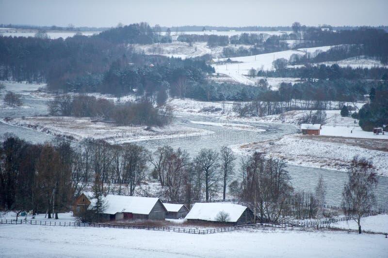 Kernave - litauisk historisk huvudstad royaltyfria foton
