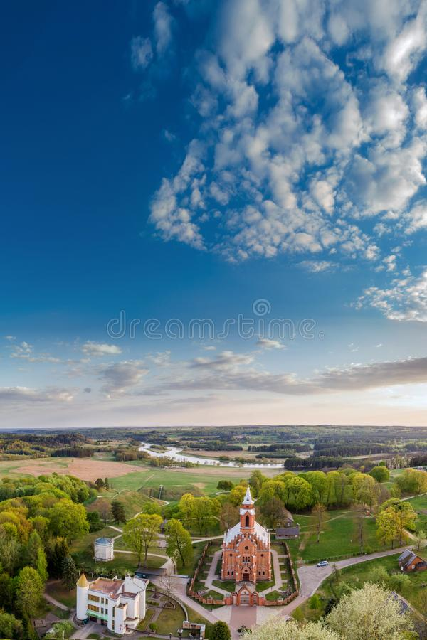Kernave, Lithuania, pionowo panorama zdjęcie royalty free