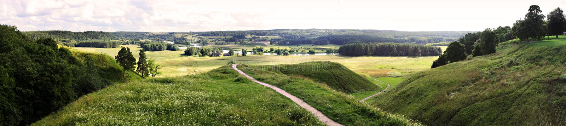 Kernave - Lithuanian historic capital, UNESCO World Heritage Site stock photo
