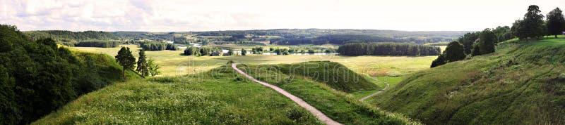 Kernave - Litouws historisch kapitaal, Unesco-de Plaats van de Werelderfenis stock foto