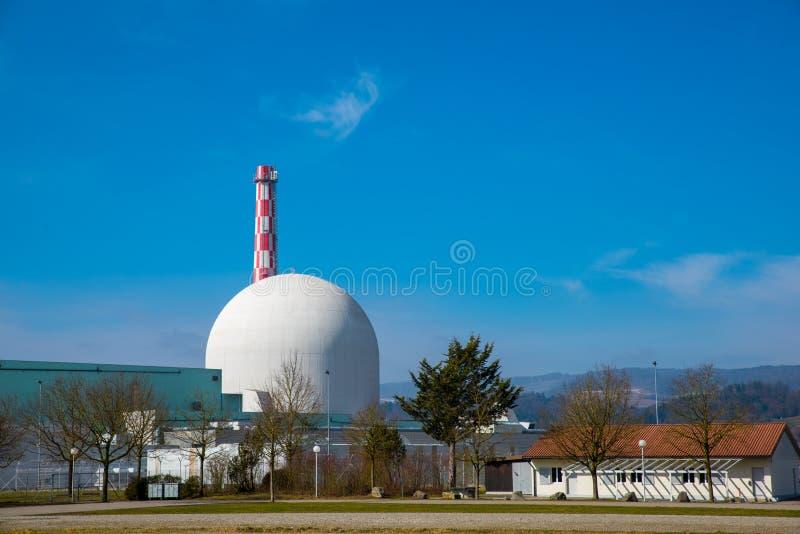 Kerncentrale, de energeticaindustrie stock afbeeldingen