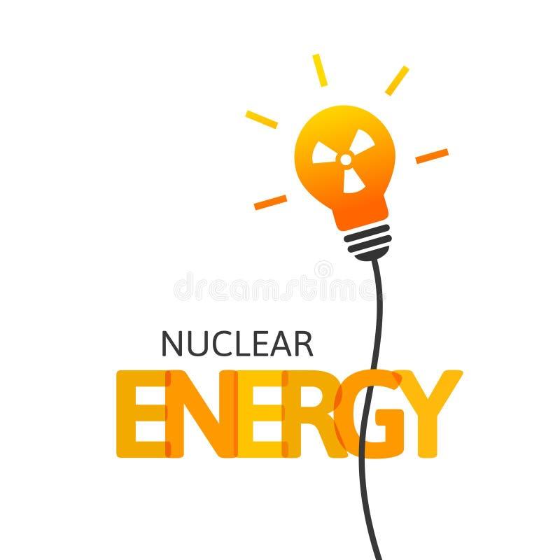 Kernenergieconcept met lightbulb en stralingssymbool vector illustratie