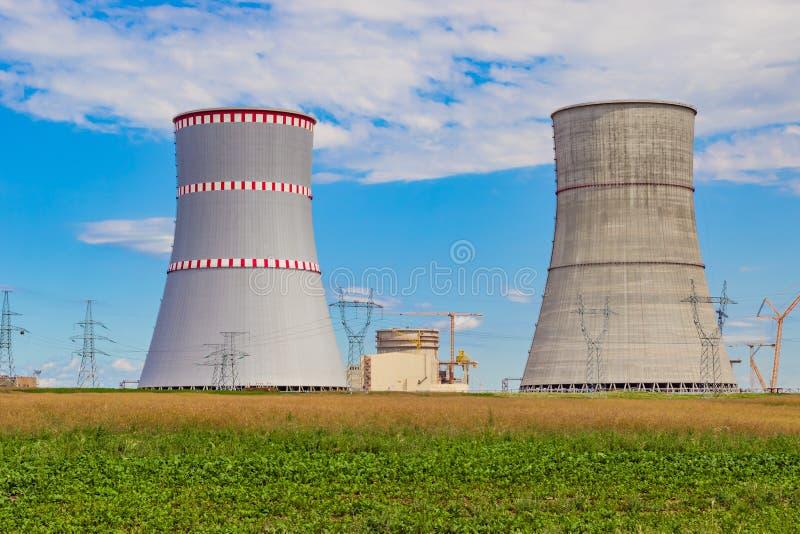 Kernenergieinstallatie die in aanbouw is royalty-vrije stock fotografie