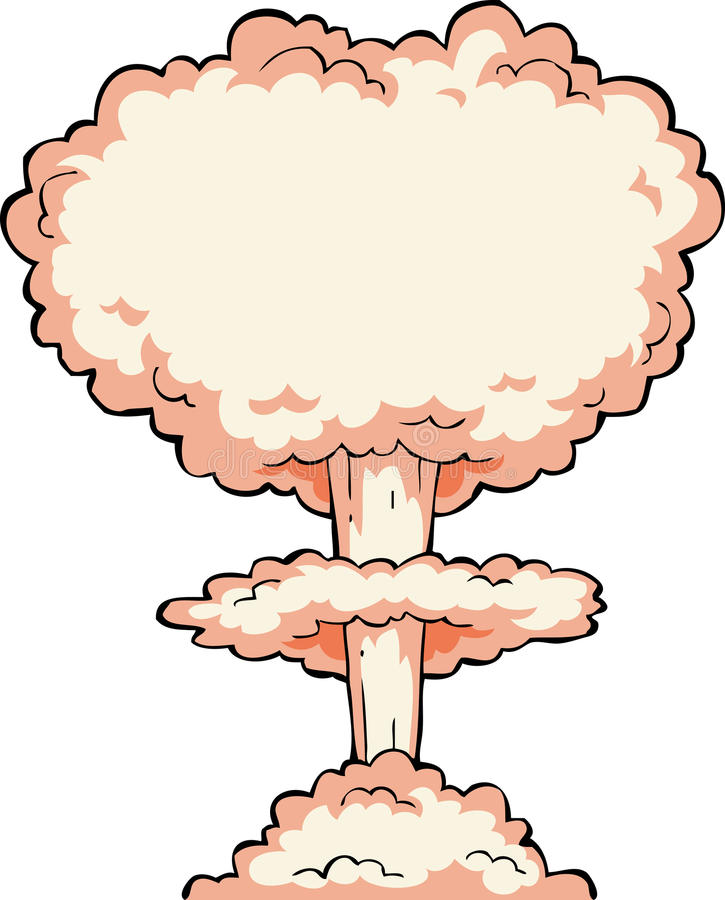Kernexplosie royalty-vrije illustratie