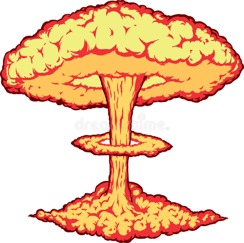 Kernexplosion stockfotografie