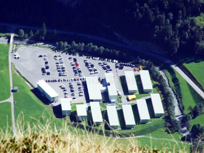 Kerngebiet mit Lagern in Linthal stockfotos