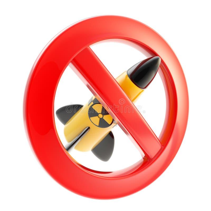Kernkraft und Strahlung verboten stock abbildung