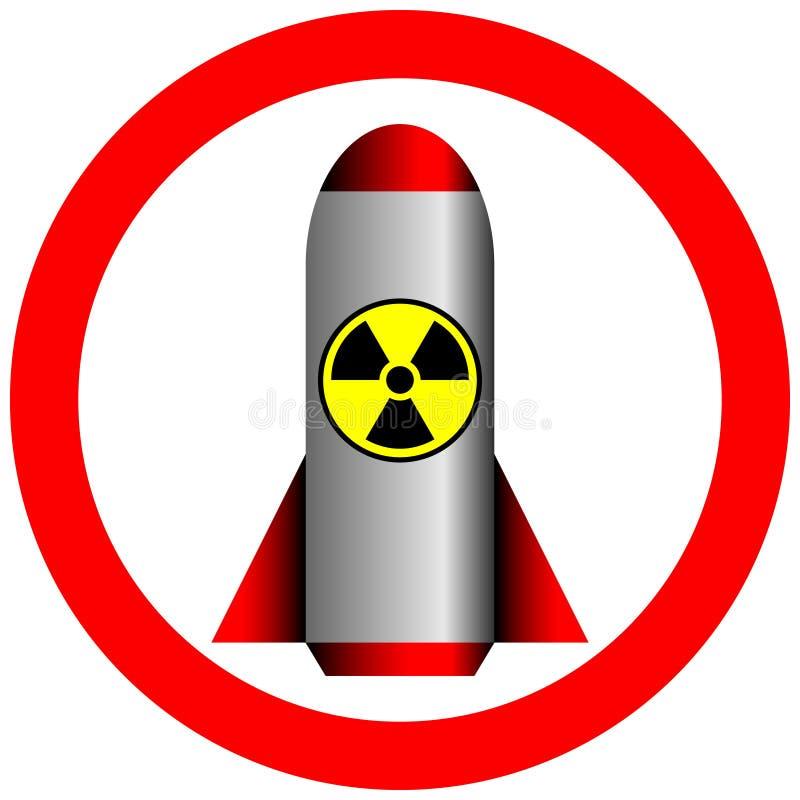 Kernkraft und Strahlung verboten lizenzfreie abbildung