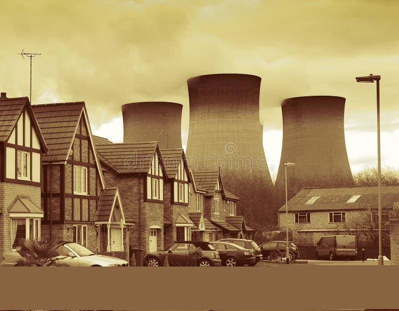 Kernkraftwerk lizenzfreies stockbild