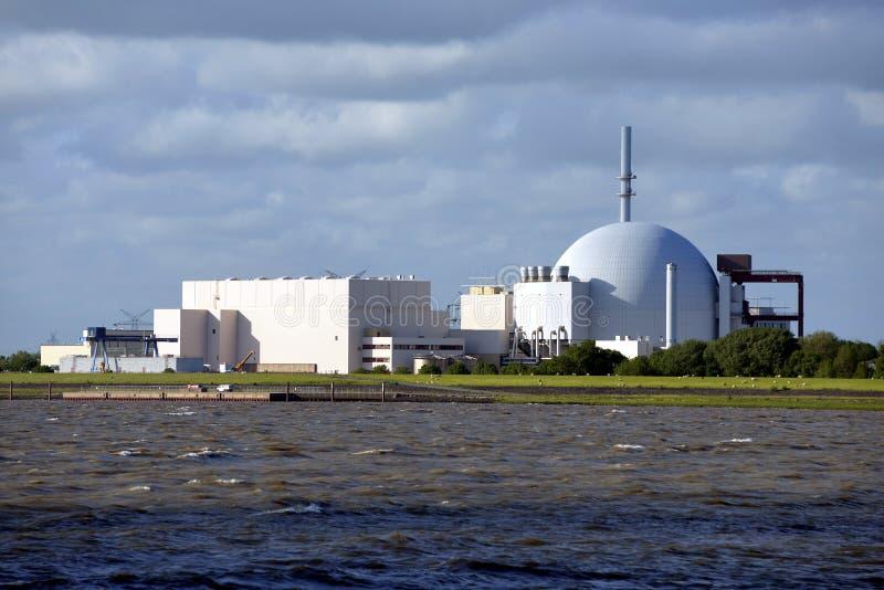 Kernkraftwerk Brokdorf stockfoto