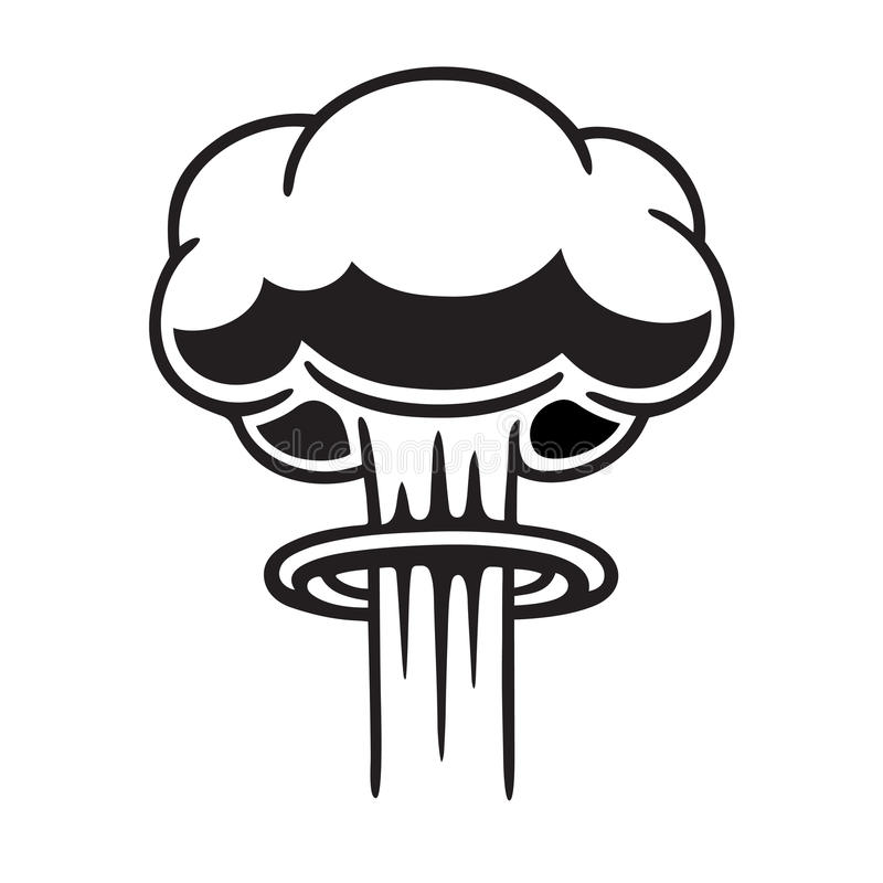 Kernpaddestoelwolk vector illustratie