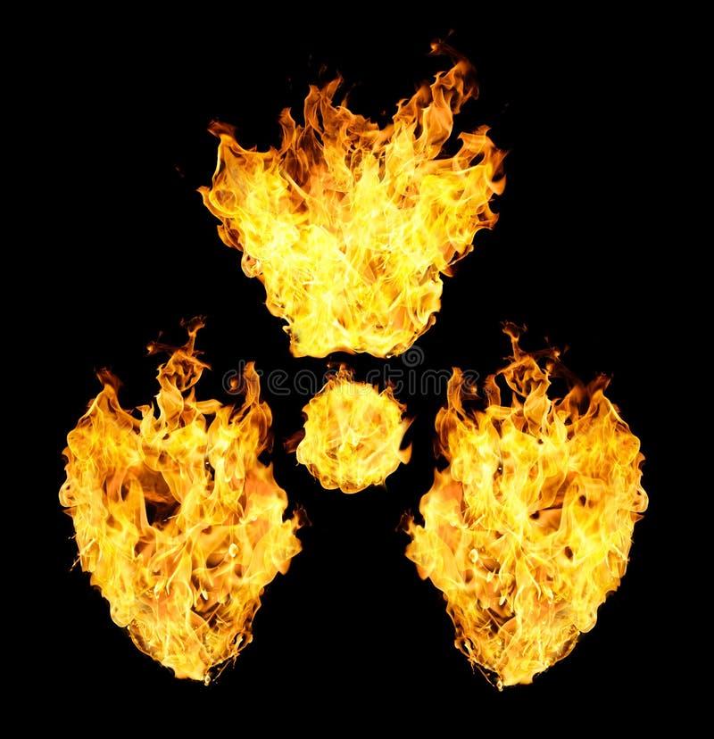 Kernsymbool van brandvlammen royalty-vrije stock foto