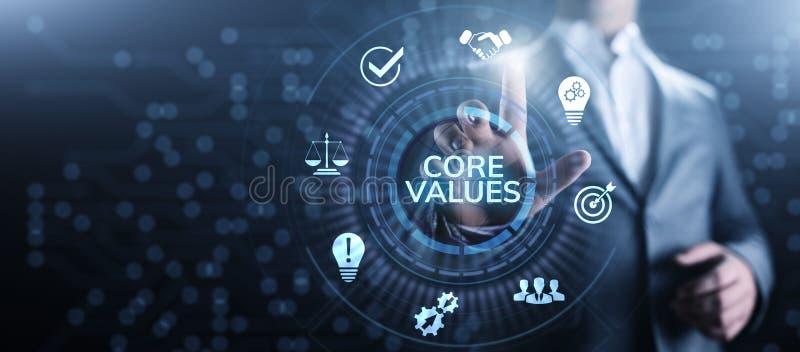 Kernvalues responsibility Company Ethisch Bedrijfsconcept stock afbeelding