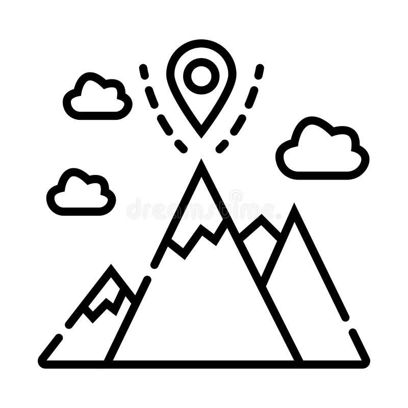 Kernwaarden: de vlaglijn van het opdrachtpictogram stock illustratie