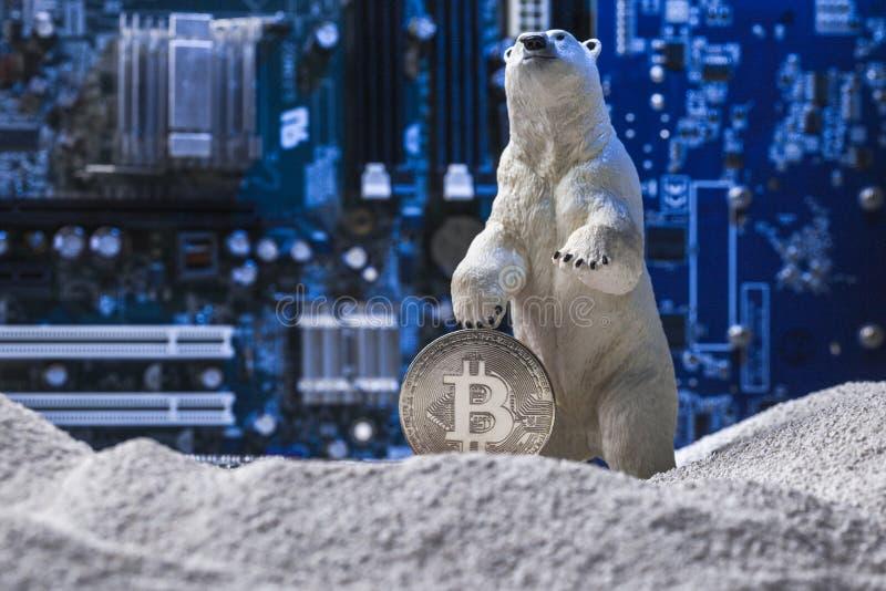Kernwinter im Schlüsselmarkt-Konzept stockfoto