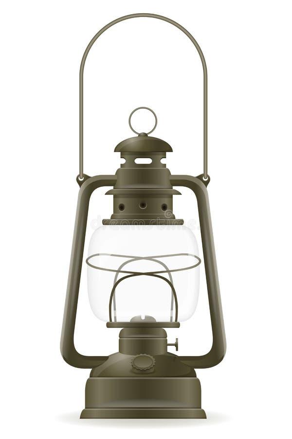 Kerosene lamp old retro vintage icon stock vector illustration vector illustration