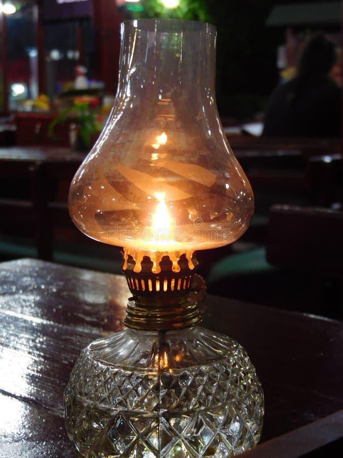 Kerosene lamp in one of the pubs. Rare thing beautiful stock image