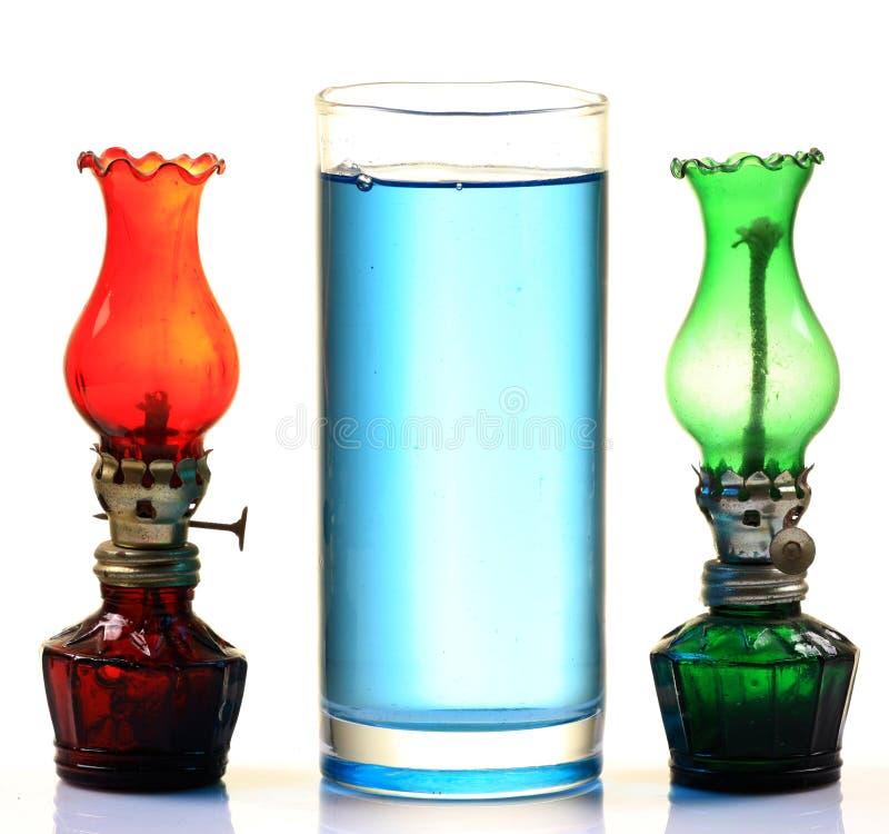 Kerosene oil and lamps stock images
