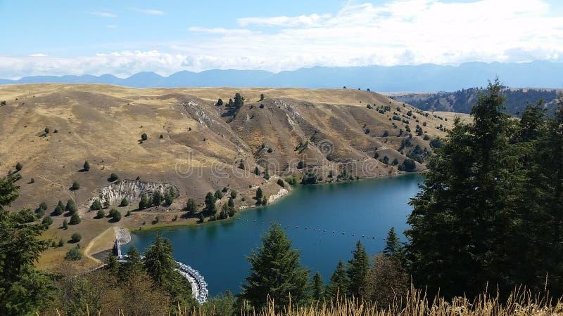Kerr Grobelny pobliski Flathead jezioro, Montana obraz royalty free