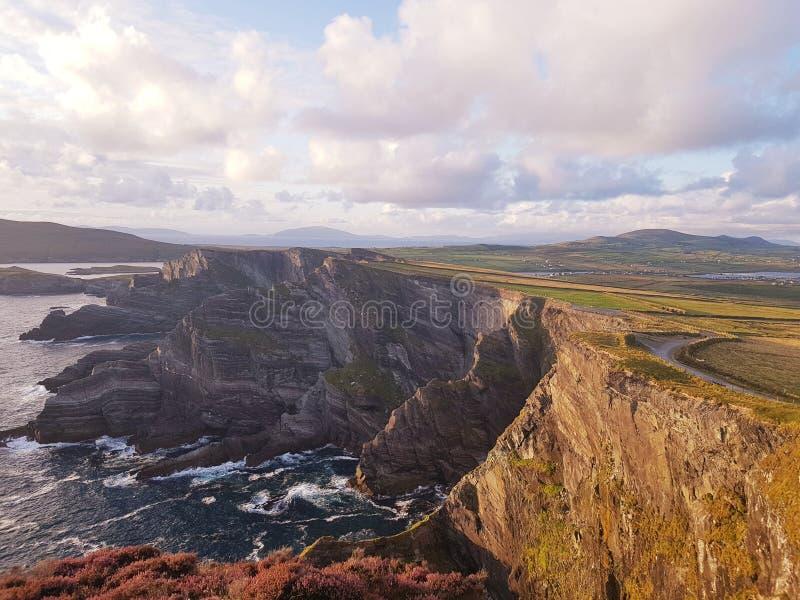 Kerry cliff& x27; s Ierland stock afbeelding