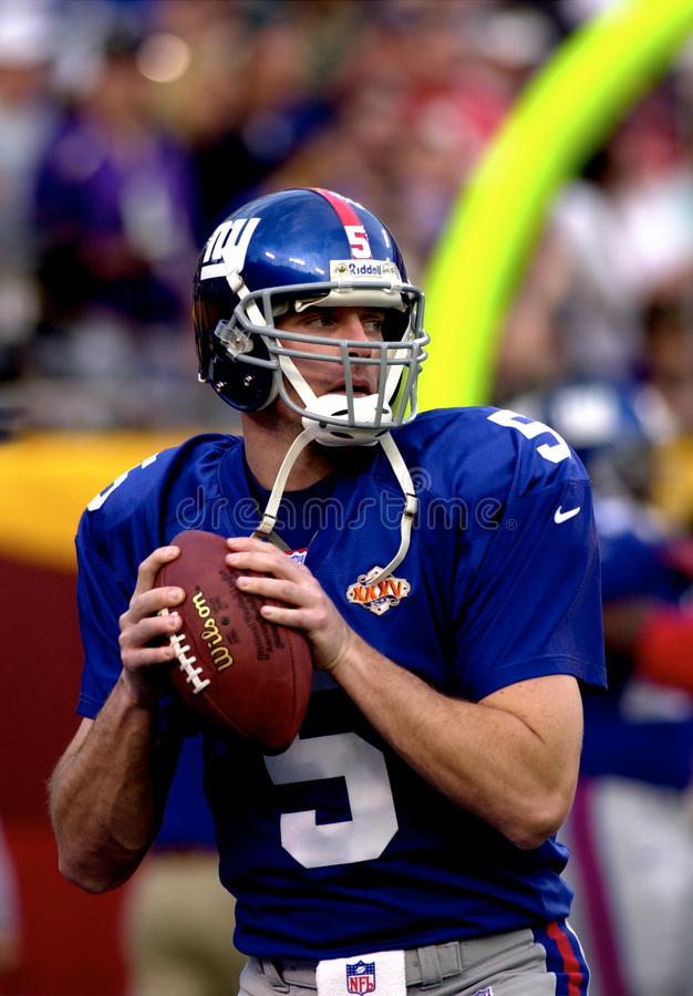 Kerry Collins. New York Giants QB Kerry Collins warming up before Super Bowl XXXV. (Image taken from color slide stock photos