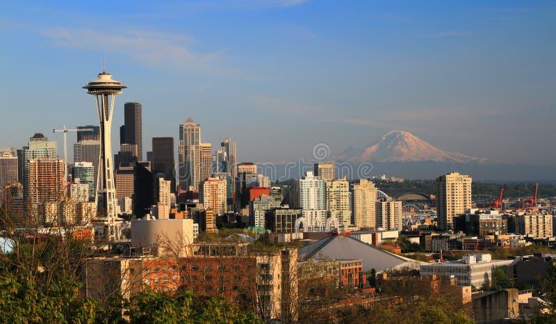 Kerry Park, Seattle, Whashington, de V.S. royalty-vrije stock foto