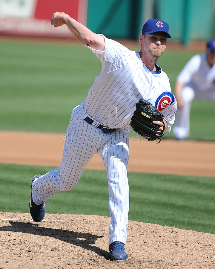 Kerry Wood dei Chicago Cubs fotografie stock