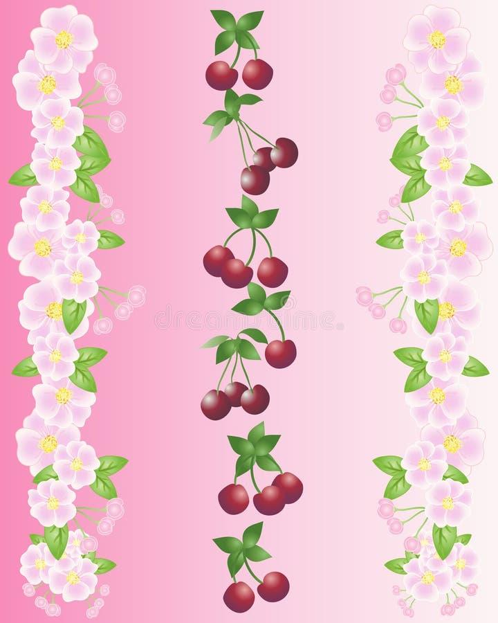 Kersen en bloesem vector illustratie