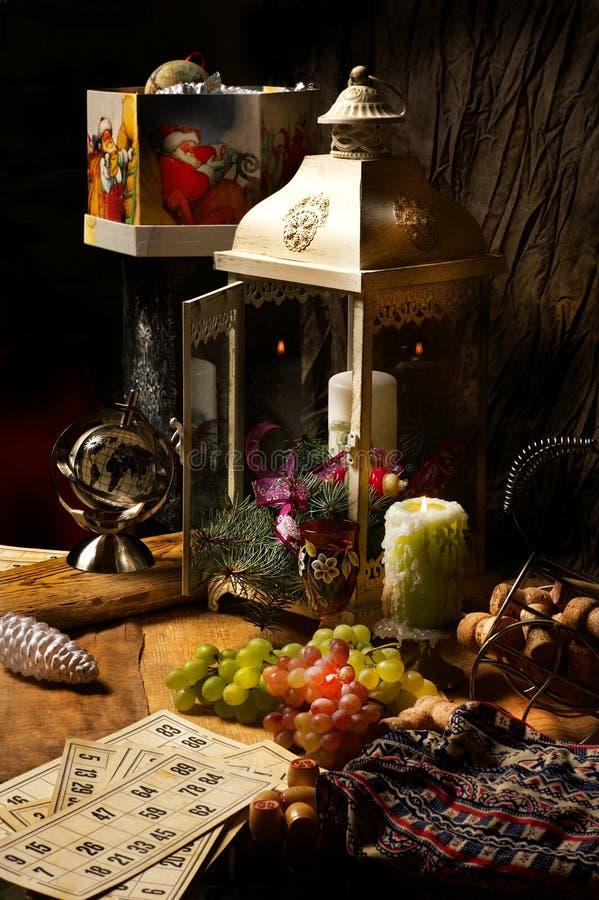 Kerstavond en magisch spel royalty-vrije stock foto