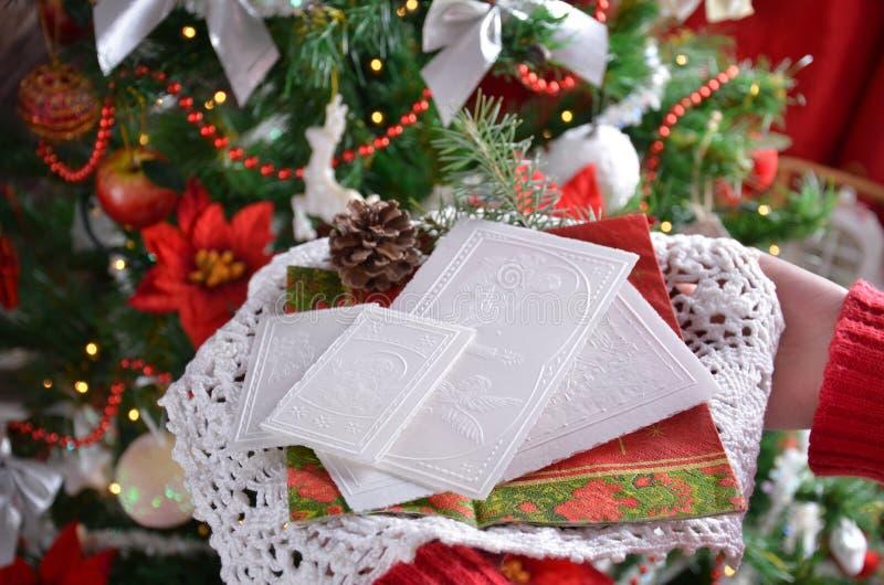 Kerstavondwafeltje stock afbeelding