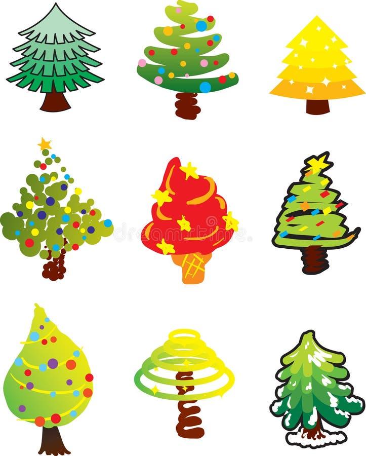 Kerstbomen stock illustratie
