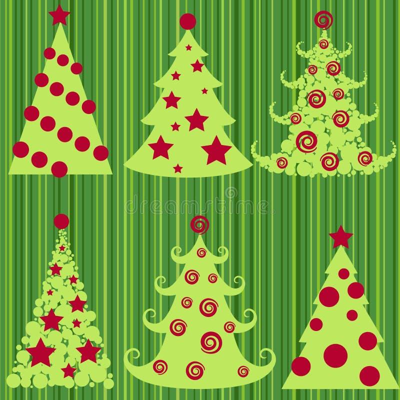 Kerstbomen. vector illustratie