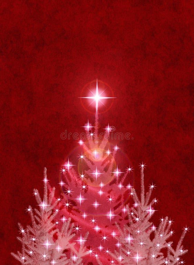 Kerstbomen op Rood