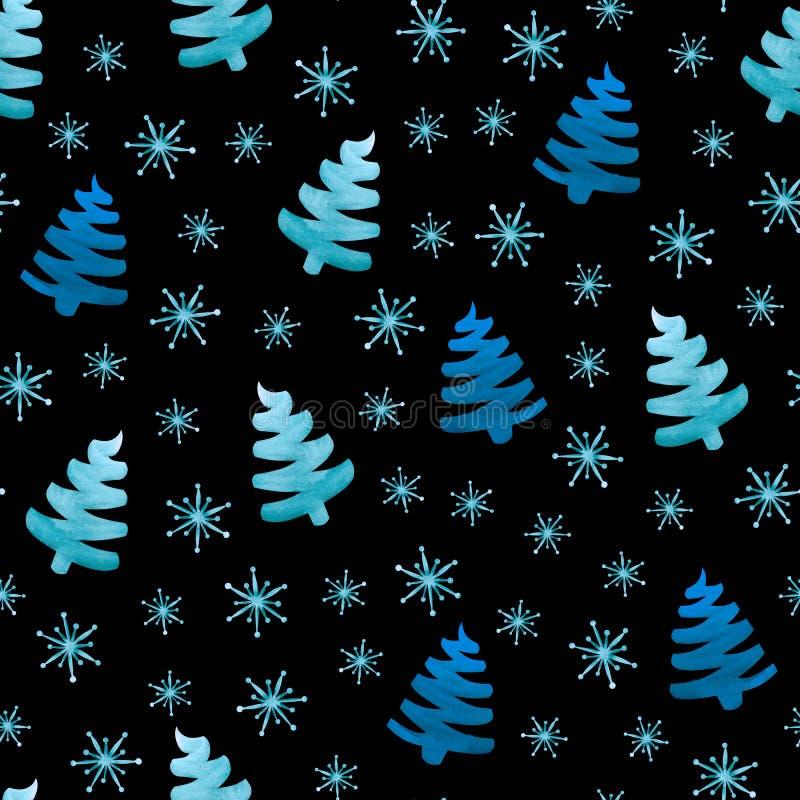 Kerstbomensneeuwvlokken royalty-vrije illustratie