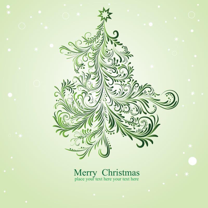 Kerstboom. stock illustratie