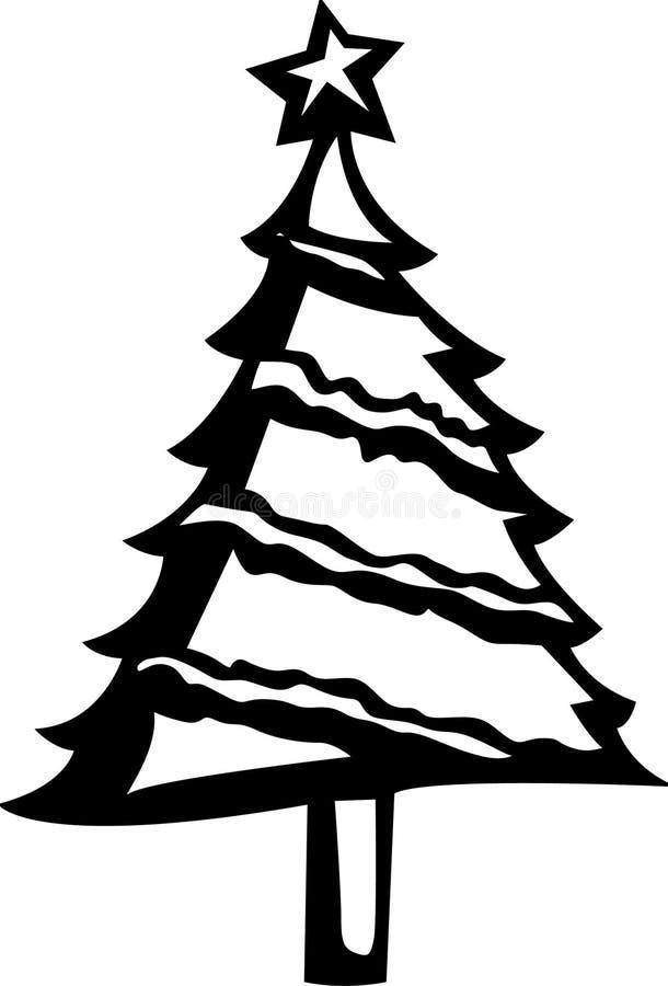 Kerstboom royalty-vrije illustratie