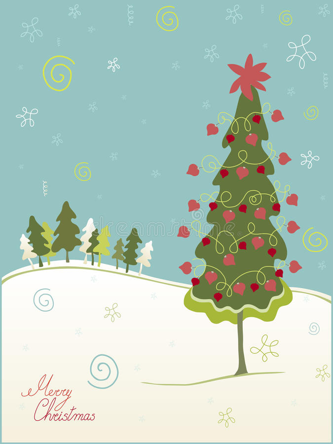 Kerstboom vector illustratie