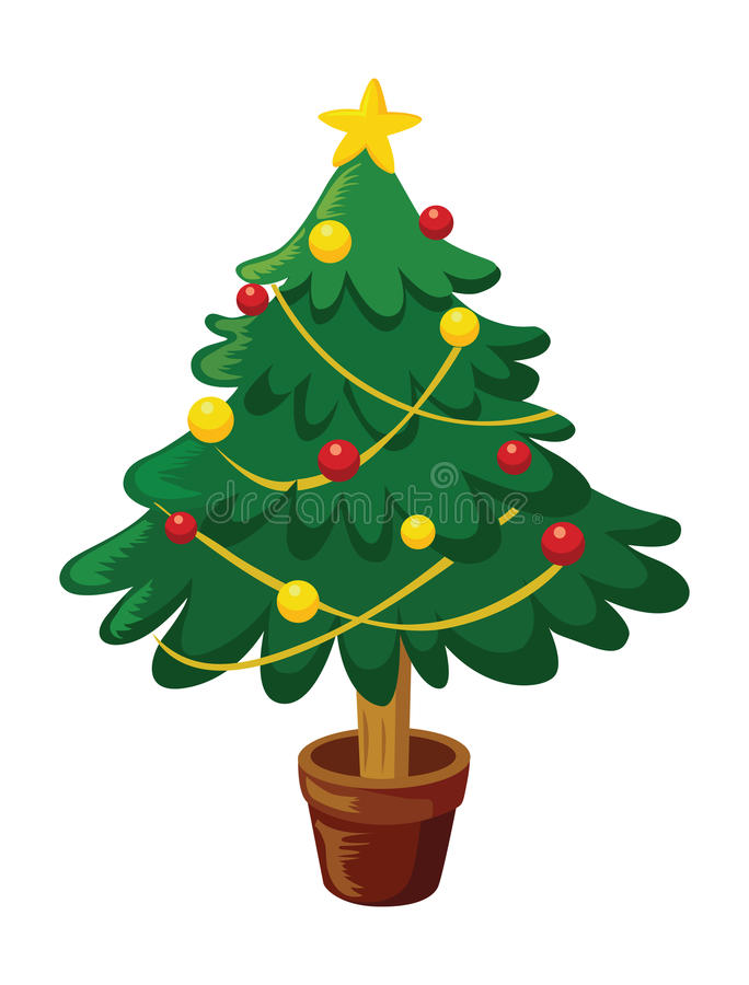 Kerstboom. vector illustratie