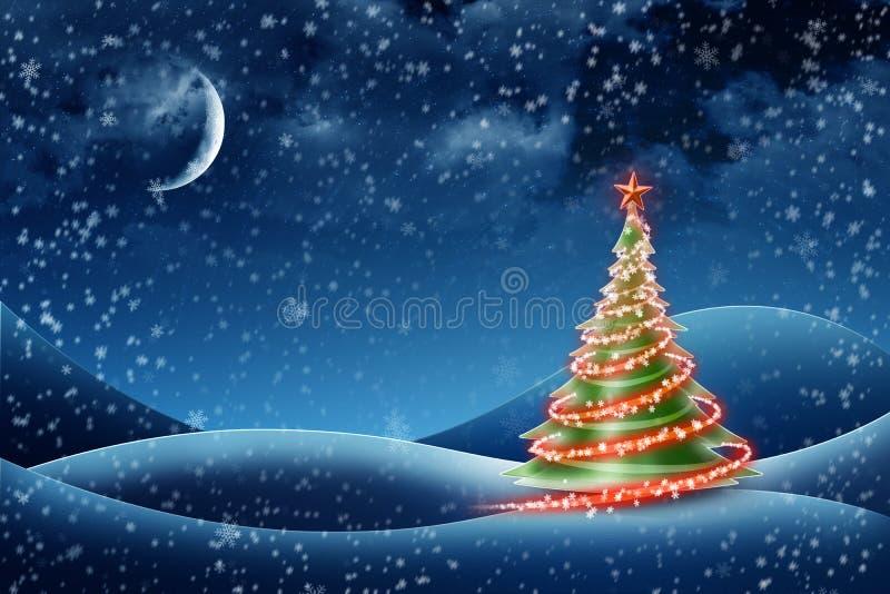 Kerstboom! stock illustratie