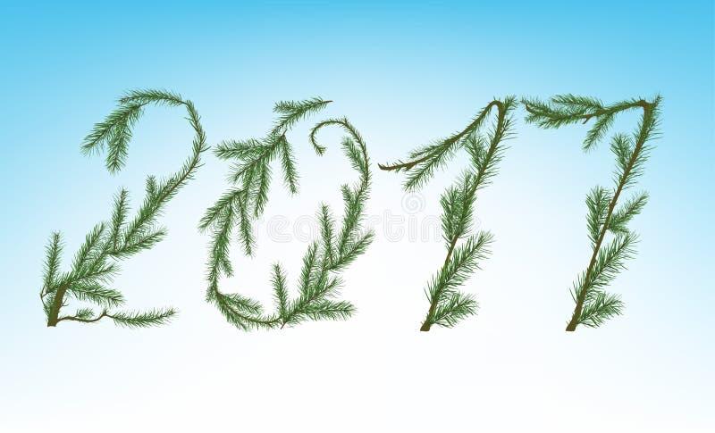 Kerstboom 2017 royalty-vrije illustratie