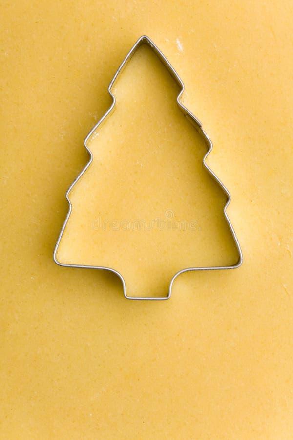 Kerstboom als koekjessnijder stock foto