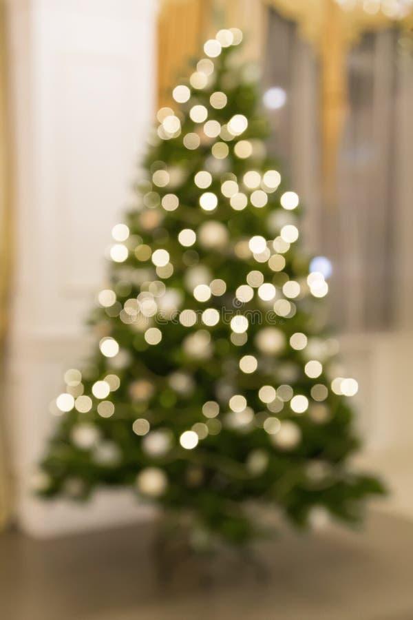 Kerstboom Bokeh stock afbeeldingen
