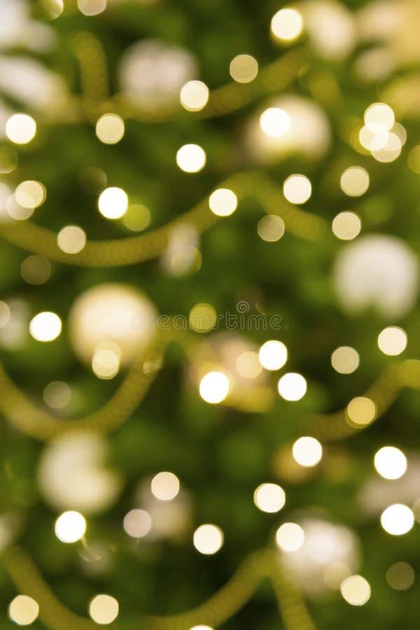 Kerstboom Bokeh stock foto