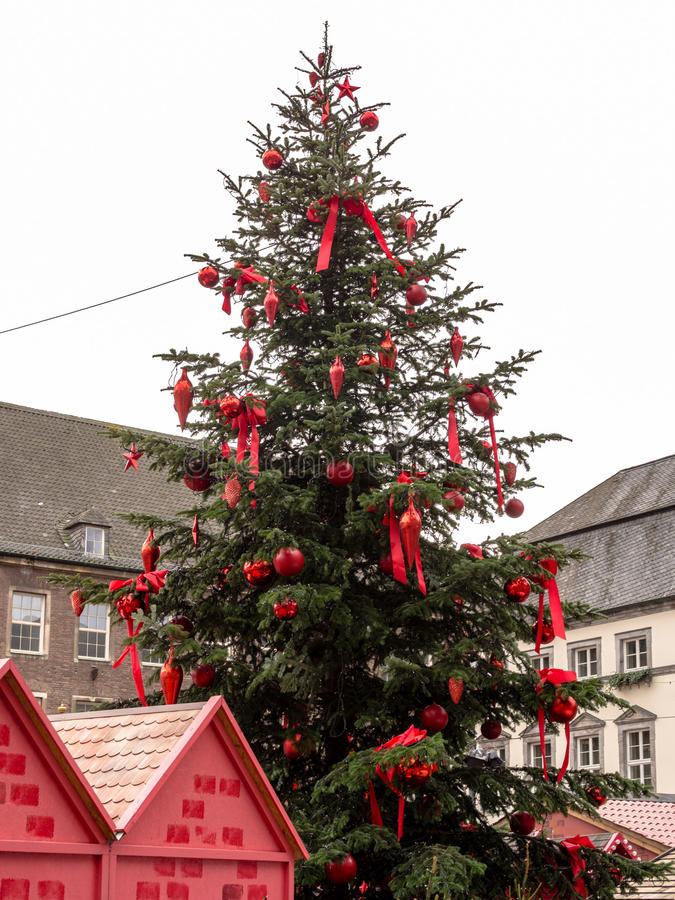 Kerstboom, DÃ ¼ sseldorf royalty-vrije stock afbeeldingen