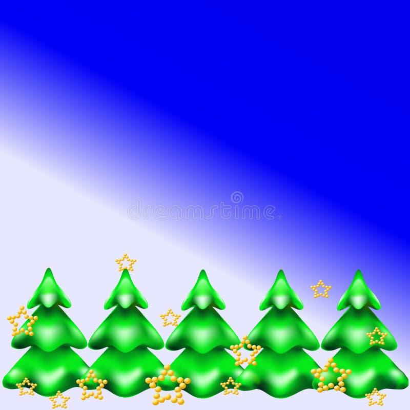 Kerstboom in de Sneeuw royalty-vrije stock afbeeldingen